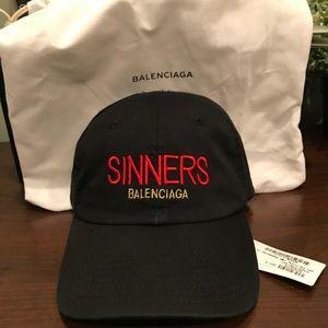 "Balenciaga "" Sinners"" baseball cap"