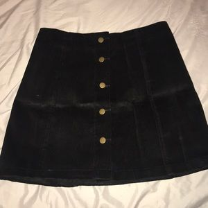 Black button-up skirt, size Medium