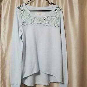 NWT/Never worn blue lace sweater by Abercrombie