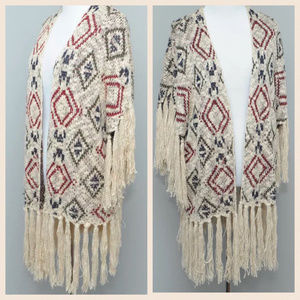 Anthropologie ENTRO Cardigan Aztec S M