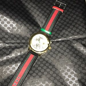 Gold Gucci watch (authentic)