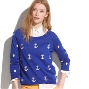 ⚓️NEW MADEWELL ANCHORS & DOTS SWEATER~M⚓️
