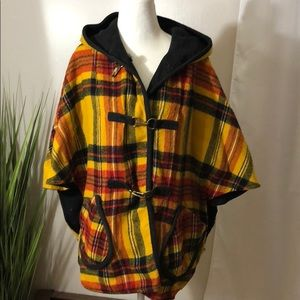 Jackets & Blazers - Vintage reversible hooded cape, one size