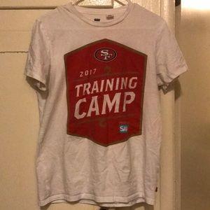 White San Francisco 49er shirt