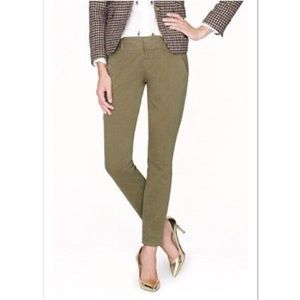 J. Crew Andie Skinny Chino Pant Size 8 Olive Green
