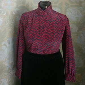 80's Berry Blouse -Size 14 (More like a 12)