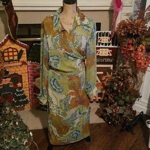 Lane Bryant wrap dress 14