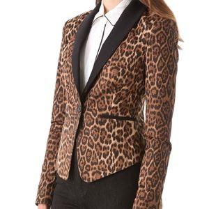 BCBGMaxazria Leopard Blazer Bowie M