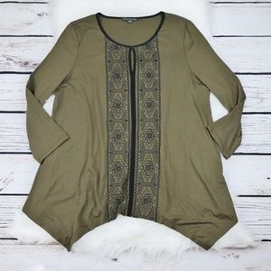 Gorgeous Adrianna Papell Green Blouse