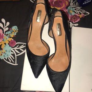 Halogen Black calf hair heels, size 12