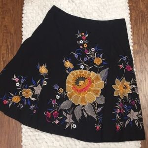 French Connection embroidered floral midi skirt 8