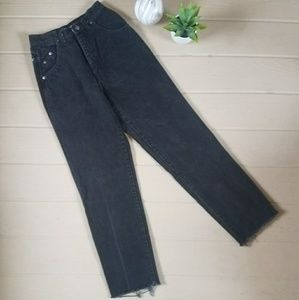Vintage Black Denim Mom Jeans