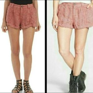 Free People Red Slouch Shorts