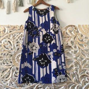 Anthropologie Maeve Floral Silk Shift Dress