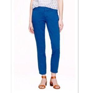 J Crew Andie Skinny Chino Pant Size 8 Royal Blue