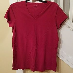 MOTHERHOOD Large Red Maternity Top