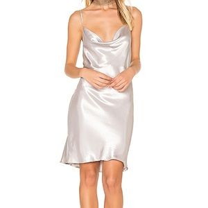 Urban Outfitters Silver Metallic Slip Dress