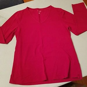 MOTHERHOOD MATERNITY Long Sleeved Cranberry Top