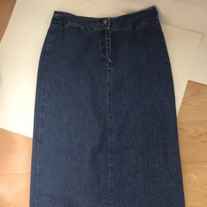 RALPH LAUREN Women's Denim Jean Skirt Size 10