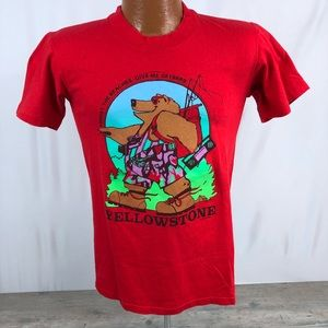 Vintage Yellowstone National Park T Shirt 1988
