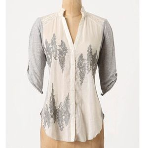 Anthropologie TINY Other Fields Button Down Shirt