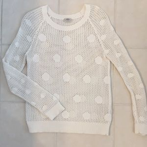 Madewell Polka Dot open stitch sweater