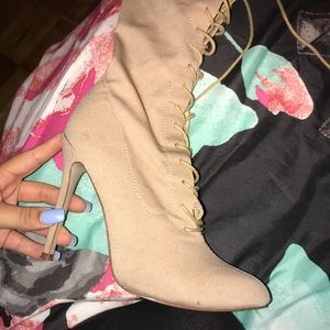 Lace up booties Sz 10