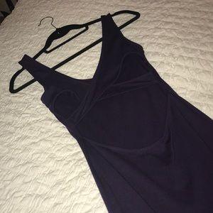 Solemio size S NEVER WORN plum bodycon dress!
