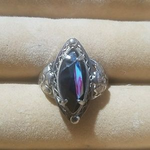 Sterling Silver and Onyx Ring filigree design