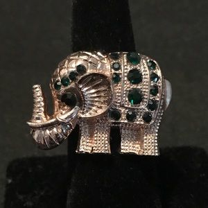 GOLD & CRYSTAL ELEPHANT RING