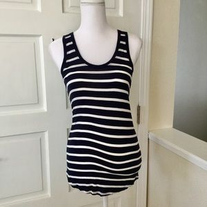 Gap navy and white striped tank top S