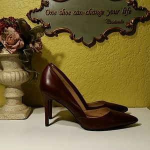 BANANA REPUBLIC HELLO SOLE MATE RED LEATHER PUMP10