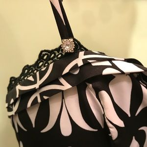 Black and white design dress