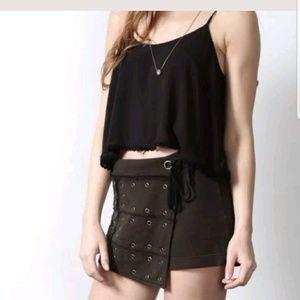 Free People Wanderlust Skort Skirt Shorts