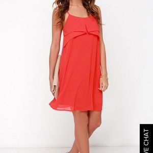 "Lulu's ""Into the Tropic"" Red Shift Dress"