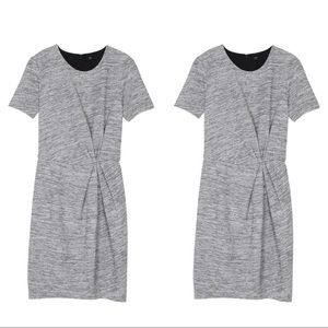 Gray Marled French Tibi Dress