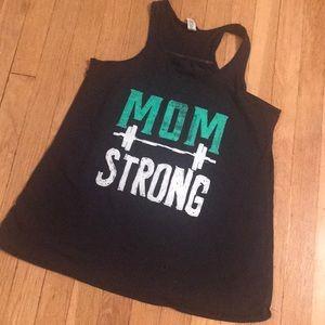Mom Strong 💪🏻 racerback tank