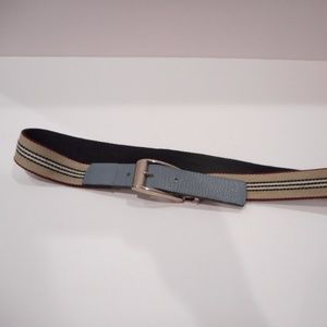 Burberry Belt XS Baby Blue Silver Buckle for sale