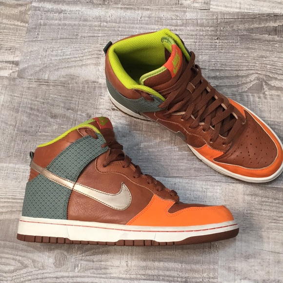 online retailer 3f19a 68f37 Nike SB Dunk High Tops- Brown Leather
