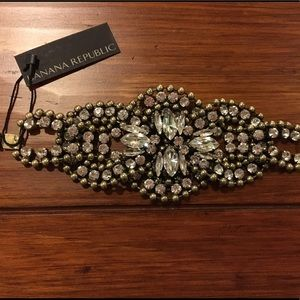 Banana Republic Crystal Cuff Bracelet NEW