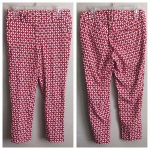 Ann Taylor LOFT Julie Skinny Printed Pants