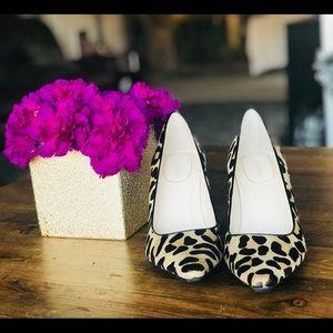 Calvin Klein Leopard Pumps Pony-hair Size 7 Heels