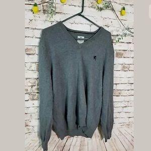 Express large gray v-neck sweater