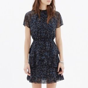 MADEWELL | Animal Print Black Mini Dress