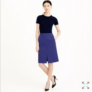 J. Crew A-line Skirt in Bi-Stretch Cotton EUC 6