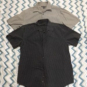 Bundle of 2 Men Shirt Old Navy L Black and Gray