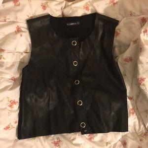 Zara Knit Leather Vest