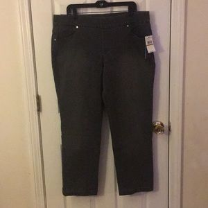 Denim - Pull on jeggings. Gloria Vanderbilt size 16W Short