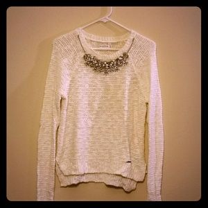 White holiday sweater