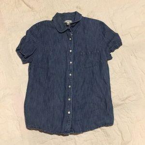 Short Sleeve J Crew Denim Shirt